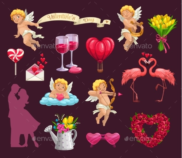 Valentines Day Elements - Valentines Seasons/Holidays