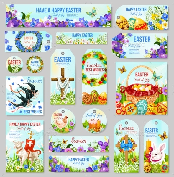 Easter Tag and Label for Religion Holiday Design - Miscellaneous Seasons/Holidays