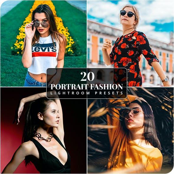20 Portrait Fashion Lightroom Presets