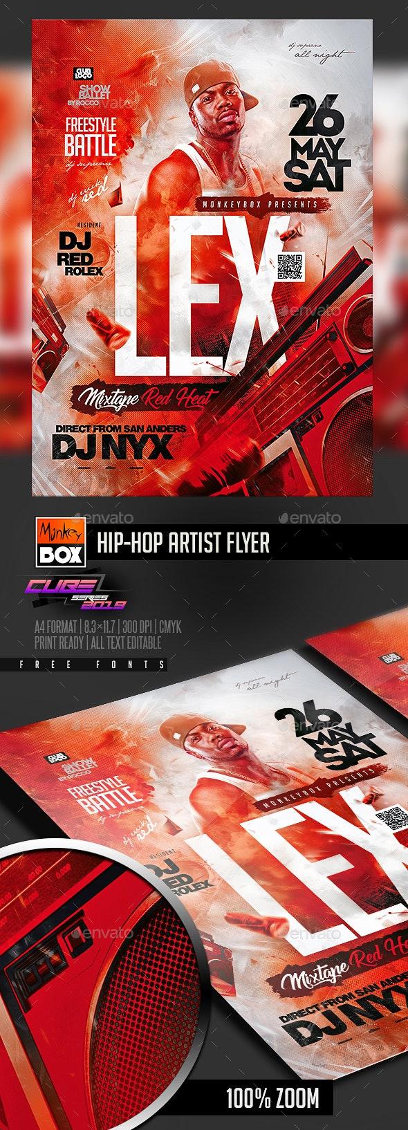 Hip-Hop Artist Flyer - Clubs & Parties Events