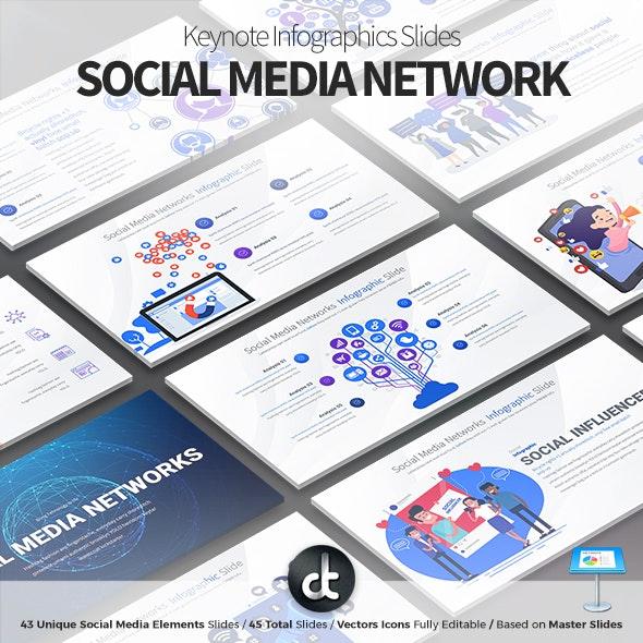 Social Media Network - Keynote Infographics Slides - Business Keynote Templates