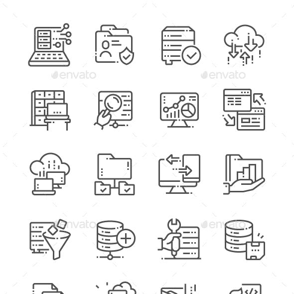 Big Data Line Icons