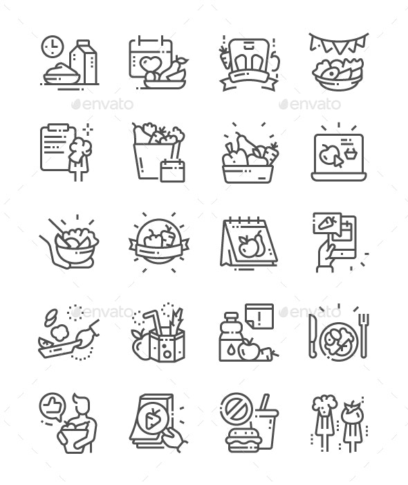 International Unloading Day Line Icons - Miscellaneous Characters