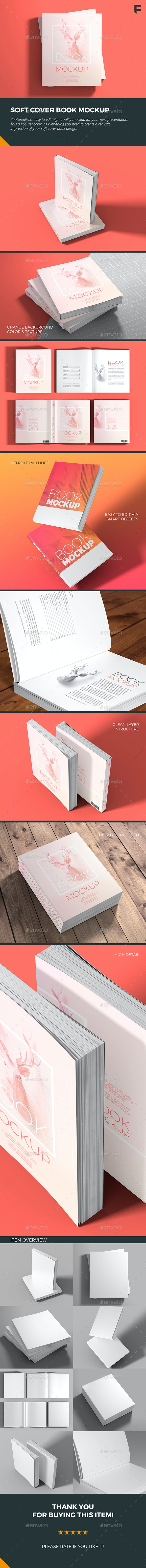Soft Cover Book Mockup - Books Print