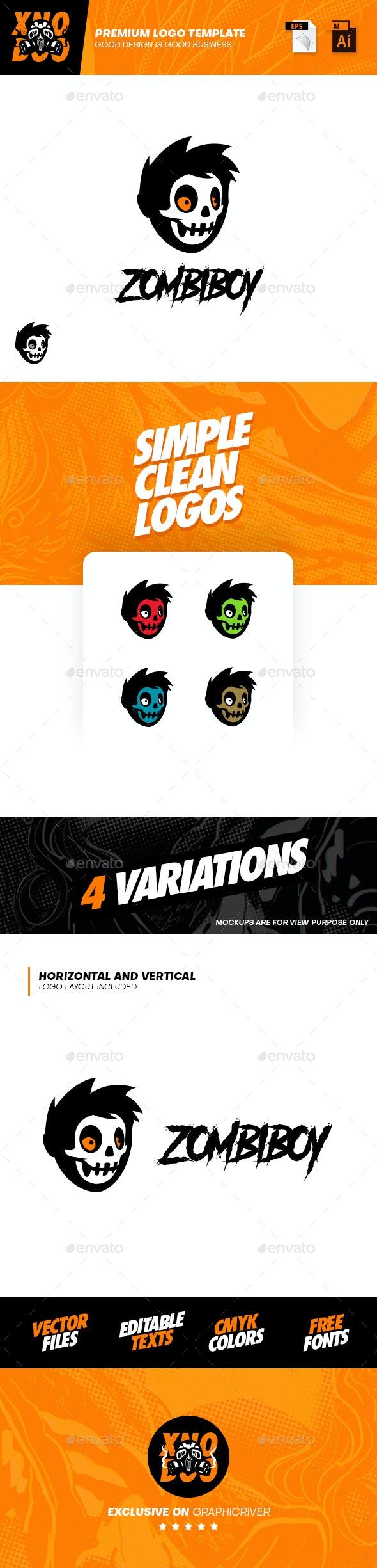 Zombiboy Logo - Humans Logo Templates