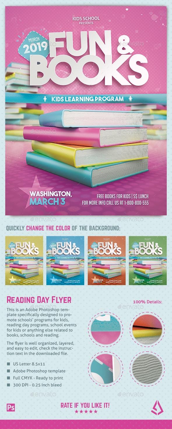 Kids Reading Program Flyer Read Across America School Resources - Miscellaneous Events