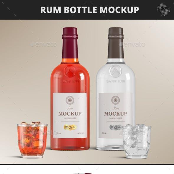 Rum Brandy Bottle Mockup