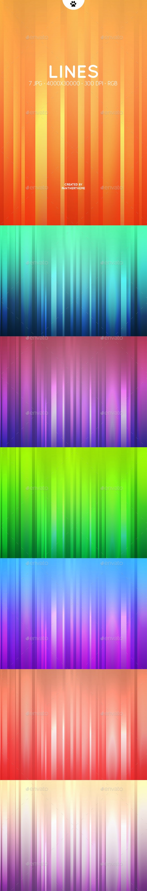 Gradient Lines Backgrounds - Abstract Backgrounds