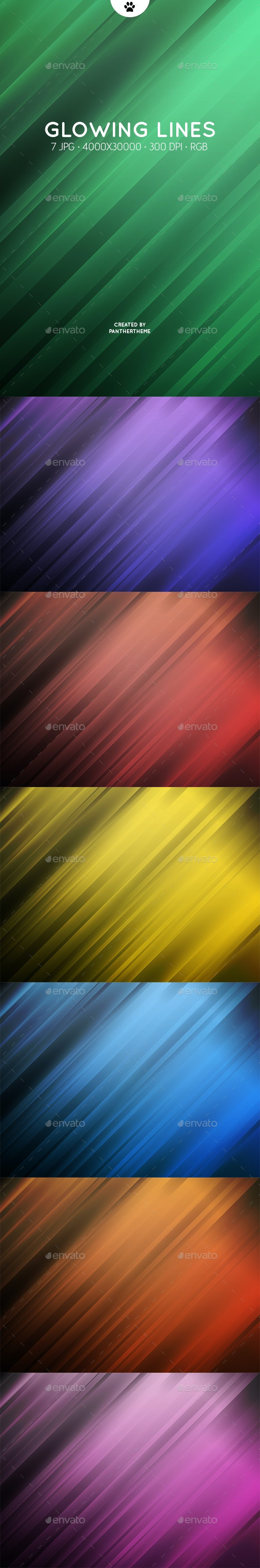 Glowing Lines Backgrounds - Abstract Backgrounds