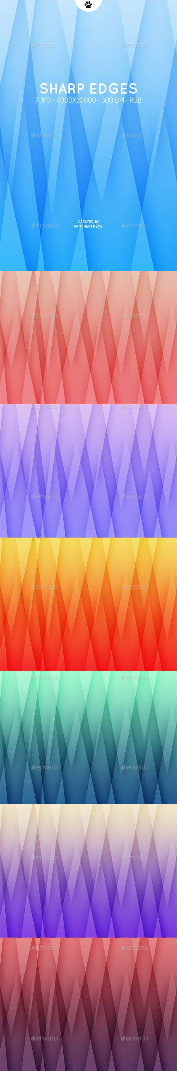 Sharp Edges Backgrounds - Abstract Backgrounds
