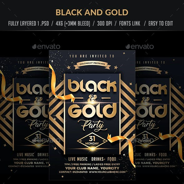 Black and Gold Party
