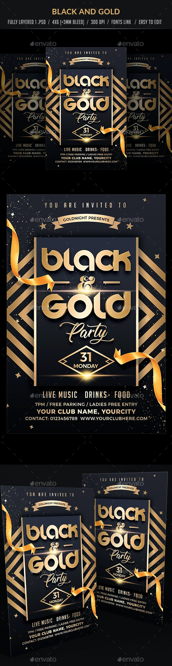 Black and Gold Party - Clubs & Parties Events