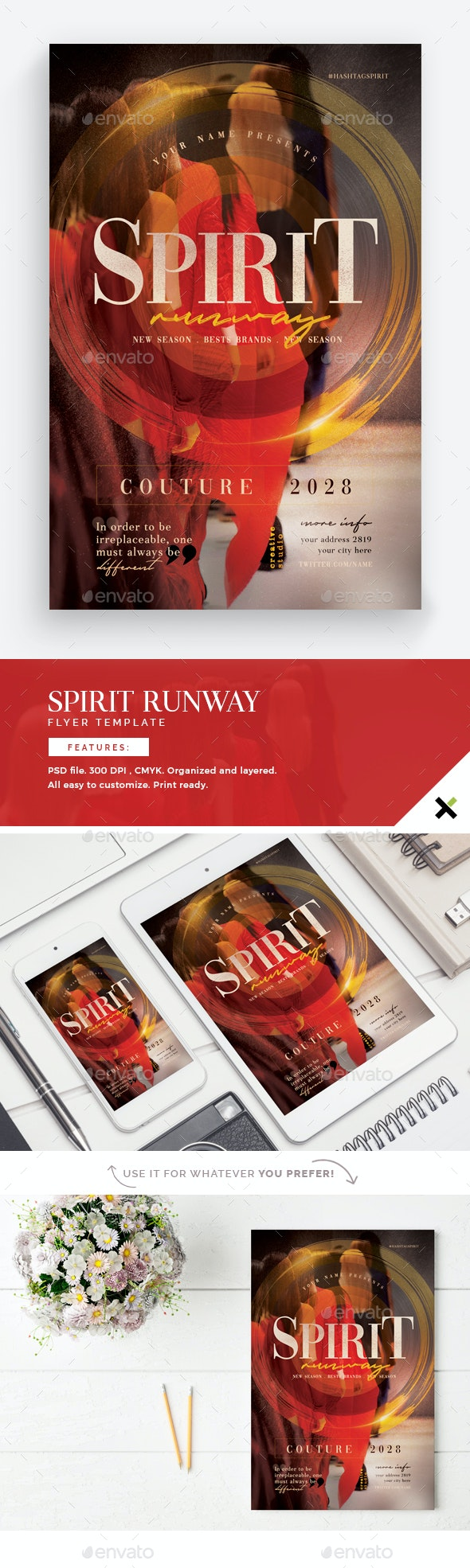 Spirit Runway Flyer Template - Events Flyers