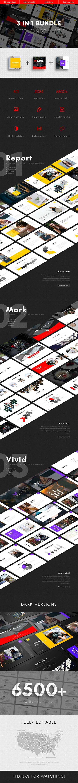 3 in 1 Multipurpose Google Slides Template Bundle (Vol.08) - Google Slides Presentation Templates
