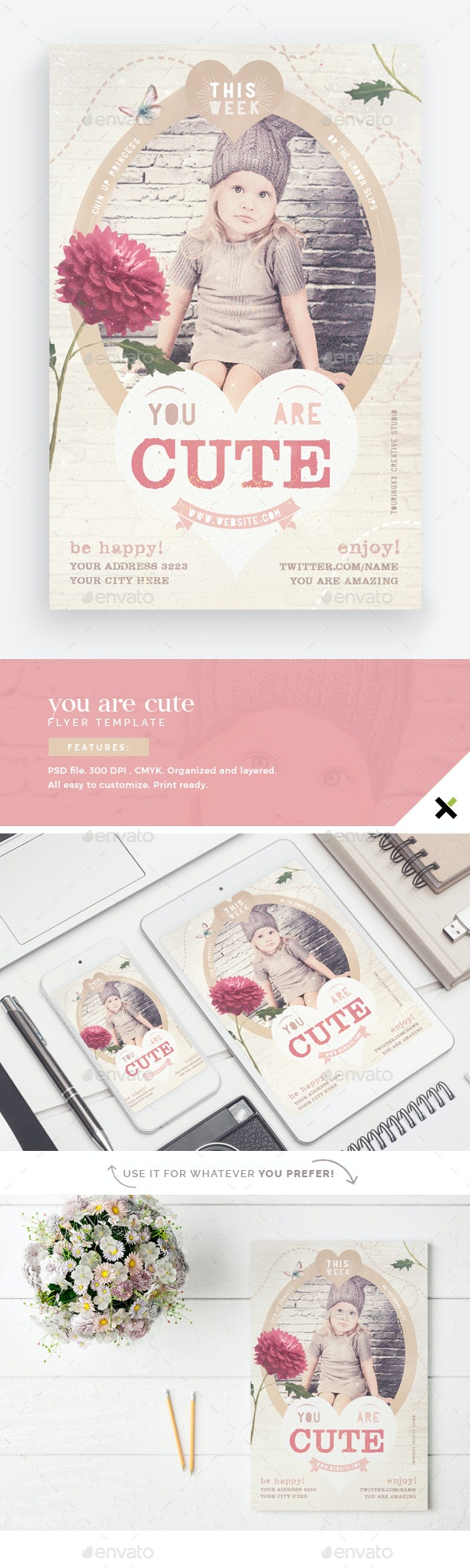 You Are Cute Flyer Template - Flyers Print Templates