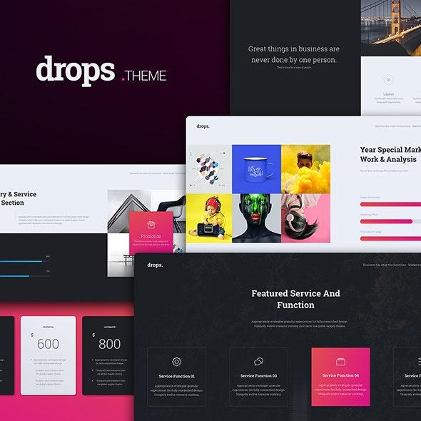 Drops Creative Template (Google Slide) - Google Slides Presentation Templates
