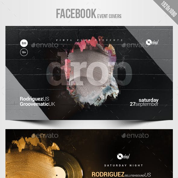 Electronic Music Party 07 - Facebook Event Cover Templates