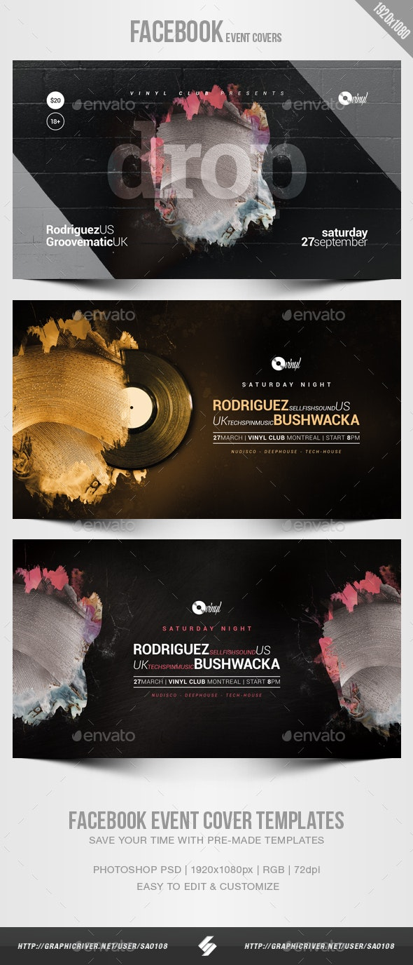 Electronic Music Party 07 - Facebook Event Cover Templates - Social Media Web Elements