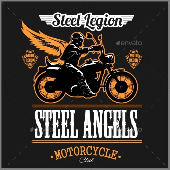 Stell Angels - Custom Motorcycles Club Badge - Miscellaneous Vectors