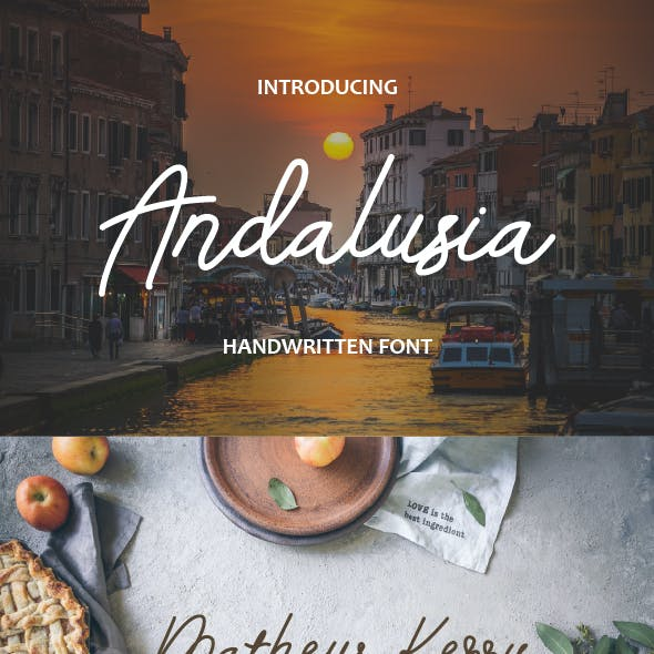 Andalusia - Handwritten Font Style