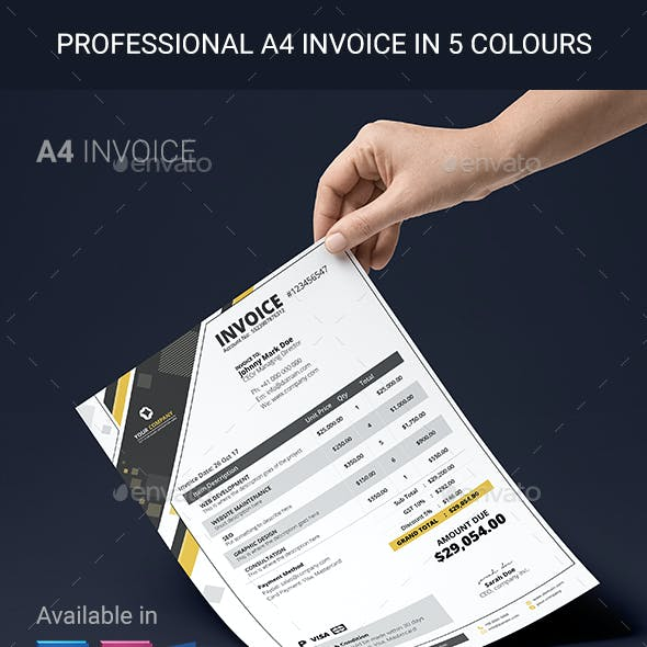 Modern Multi-purpose Professional A4 Invoice Template