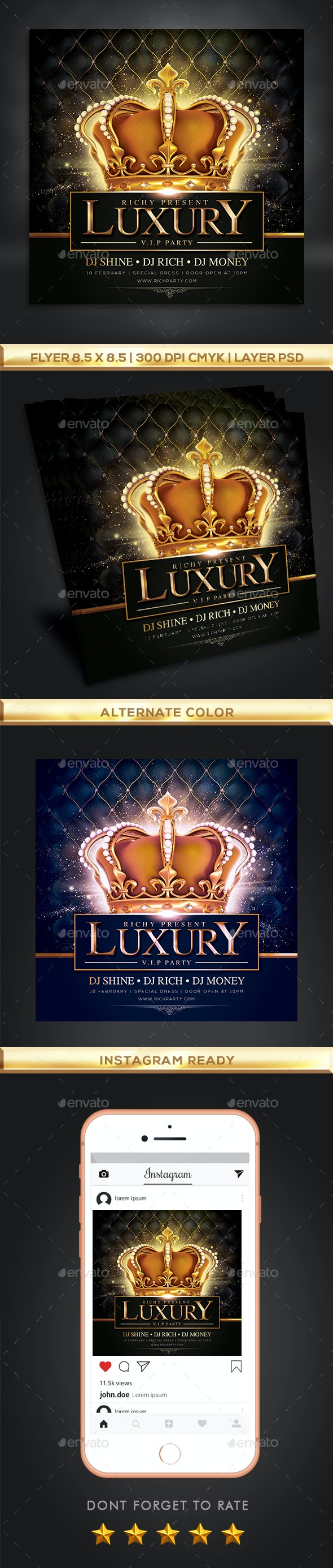 Luxury Gold Party Flyer - Clubs & Parties Events