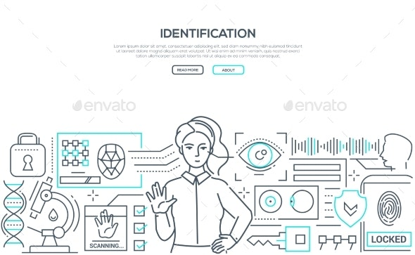 Identification - Modern Line Design Style Web - Computers Technology