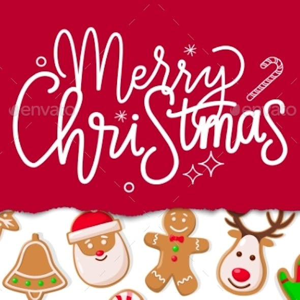 Merry Christmas Celebration of Winter Holiday