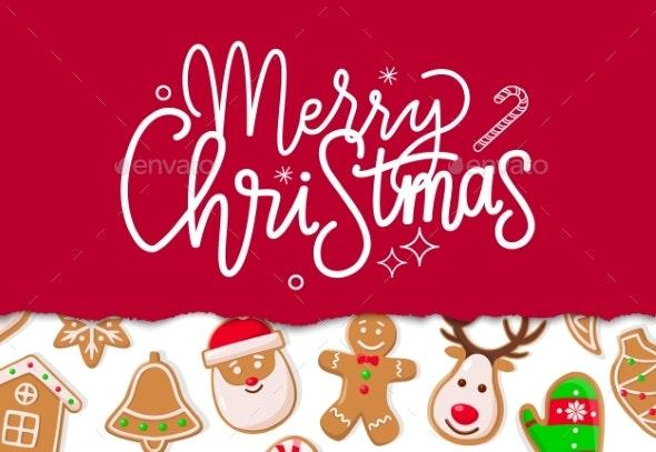 Merry Christmas Celebration of Winter Holiday - Christmas Seasons/Holidays