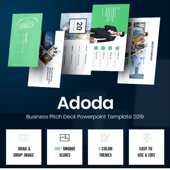 Adoda - Business Pitch Deck Powerpoint