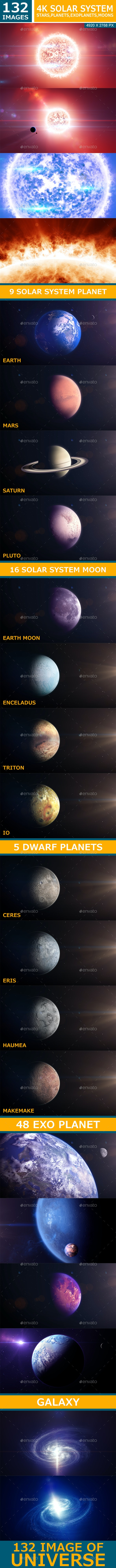 132 4K Solar System - 3D Backgrounds