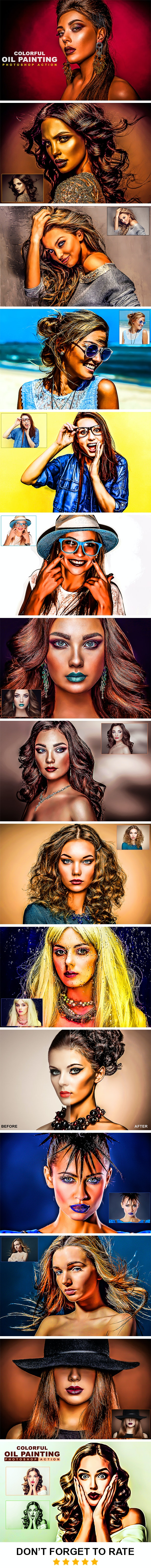 Colorful Oil Painting Photoshop Action - Photo Effects Actions