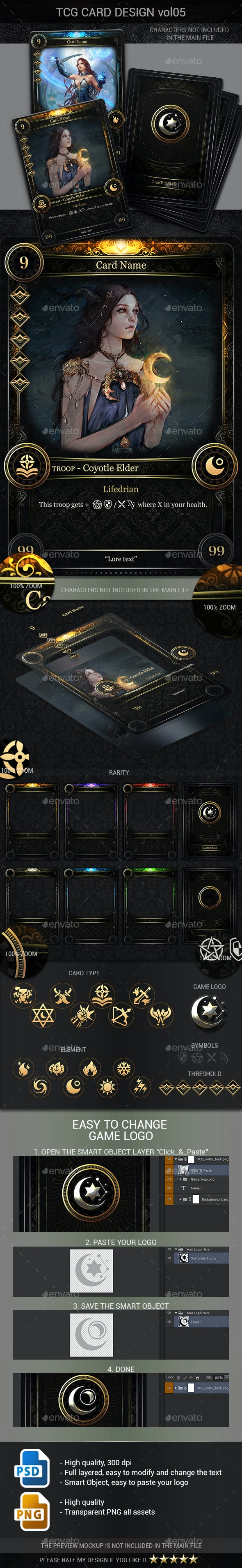 TCG Card Design Vol 5 - Miscellaneous Game Assets