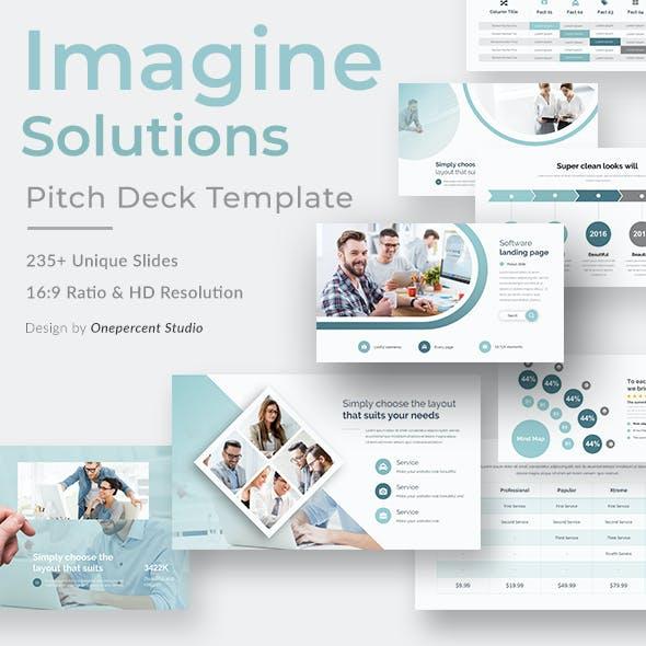 Imagine Solutions Pitch Deck Google Slide Template