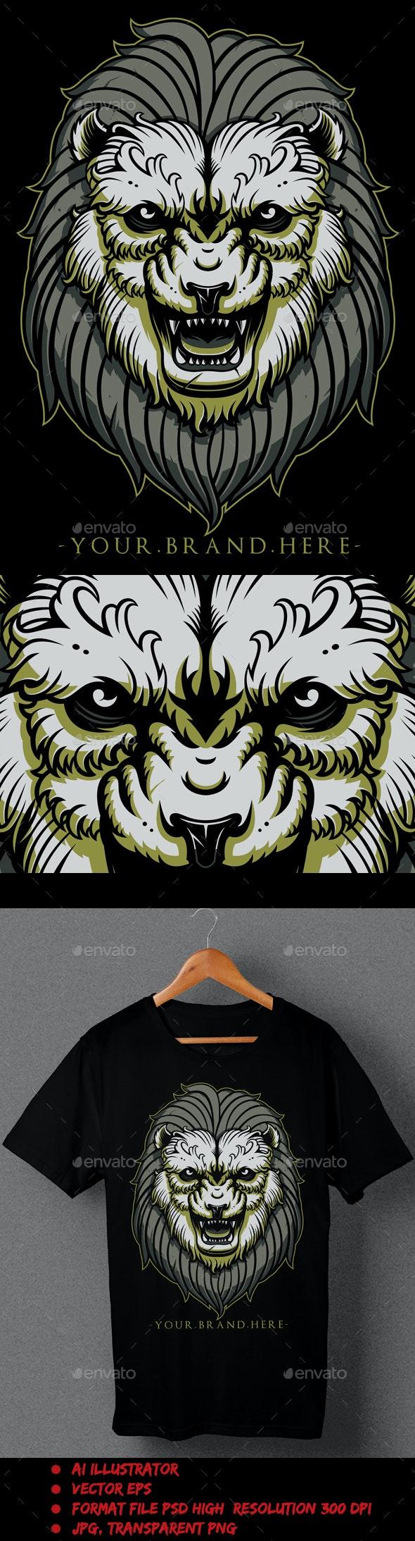 Lion Green - T-Shirts