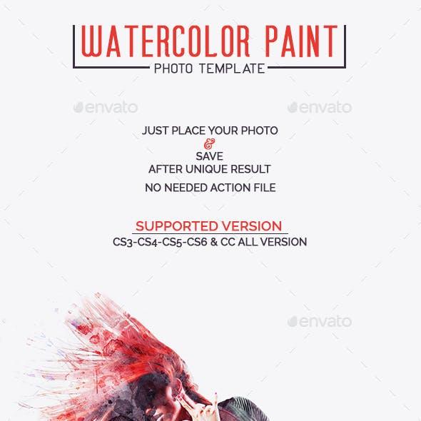 Watercolor Paint Photo Template