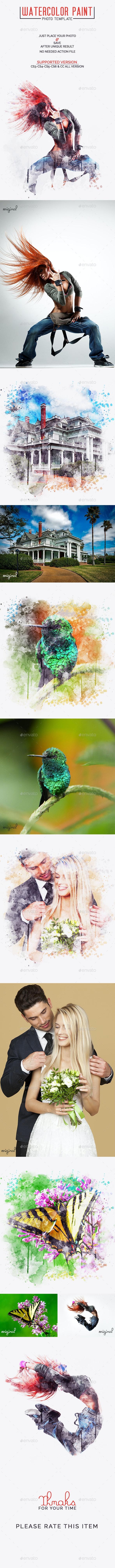 Watercolor Paint Photo Template - Photo Templates Graphics