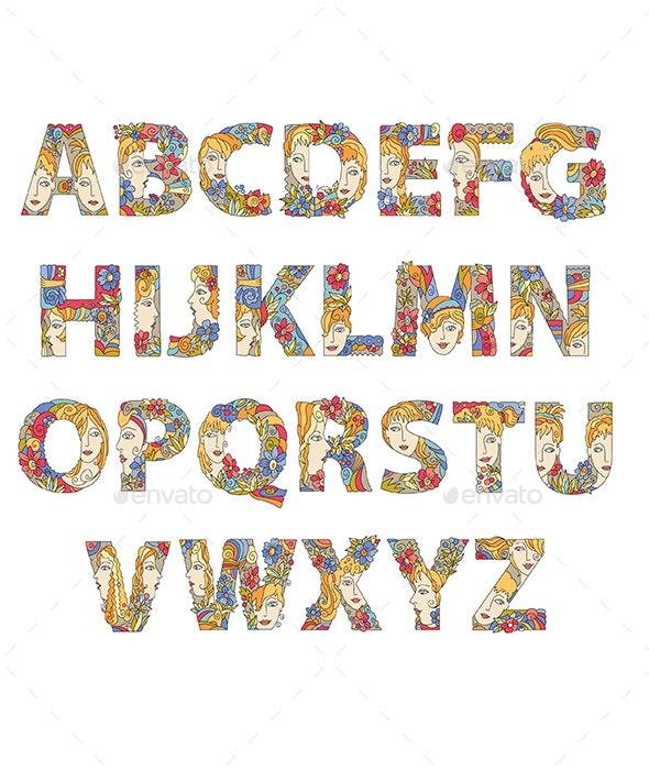 Decorative Alphabet - Decorative Symbols Decorative