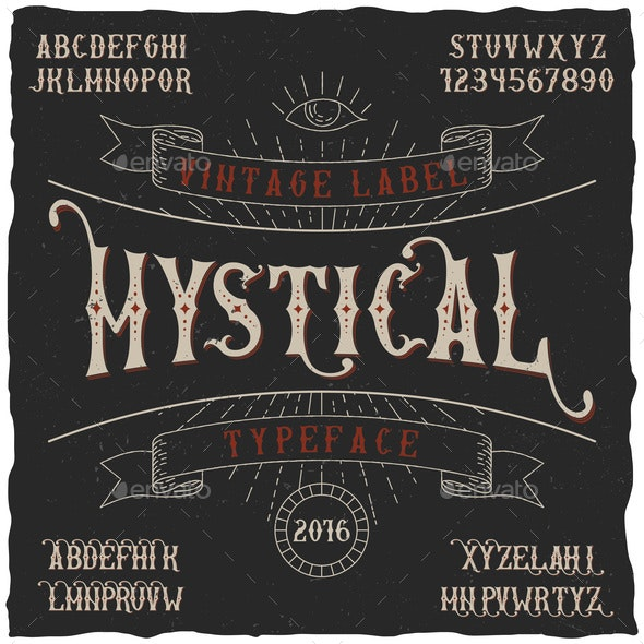 Mystical Label Typeface Poster - Abstract Conceptual