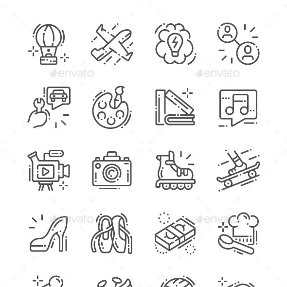 Interest Line Icons