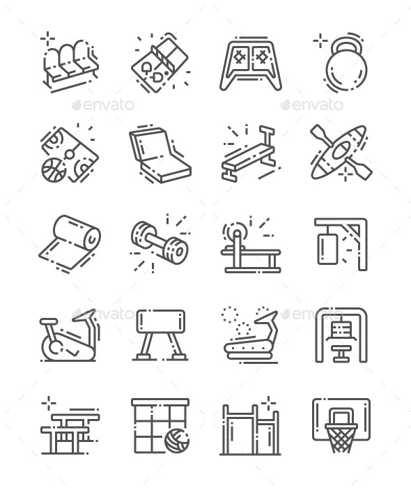 Coach stuff Line Icons - Miscellaneous Characters