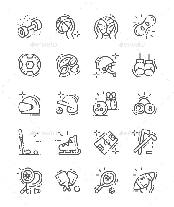 Equipment Line Icons - Miscellaneous Characters
