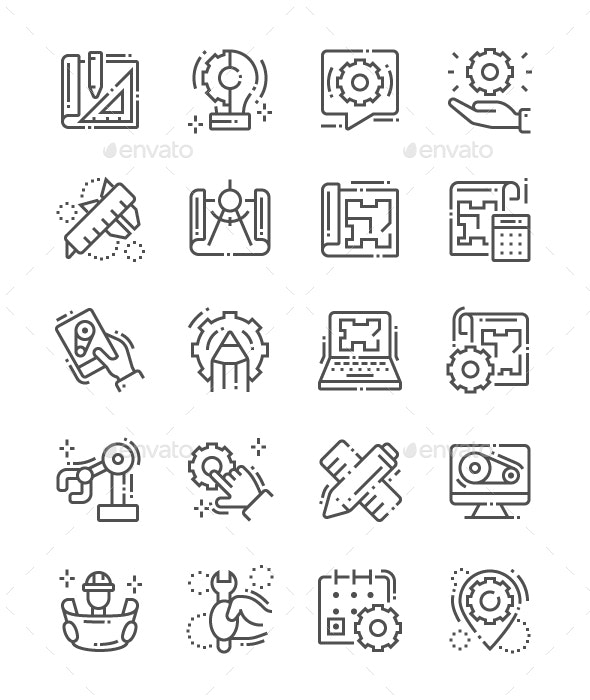 Engineering Line Icons - Technology Icons