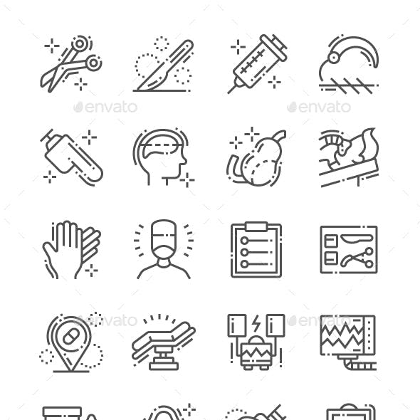Surgery Line Icons