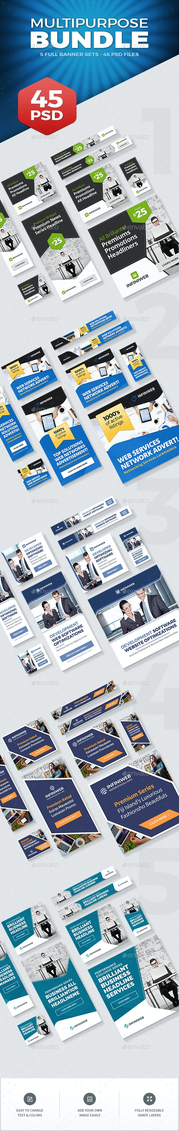 Multipurpose Banners Bundle - Banners & Ads Web Elements
