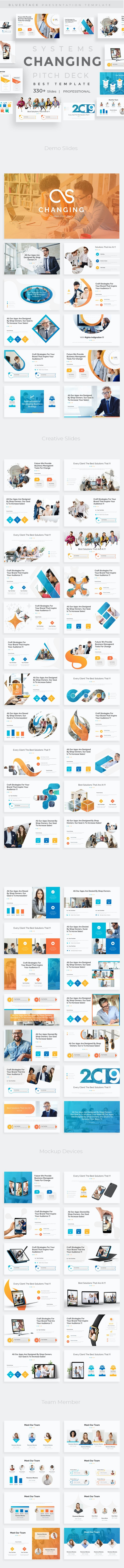 Changing Systems Pitch Deck Powerpoint Template - Business PowerPoint Templates