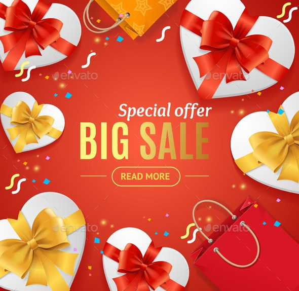Big Sale Concept Banner Card - Retail Commercial / Shopping