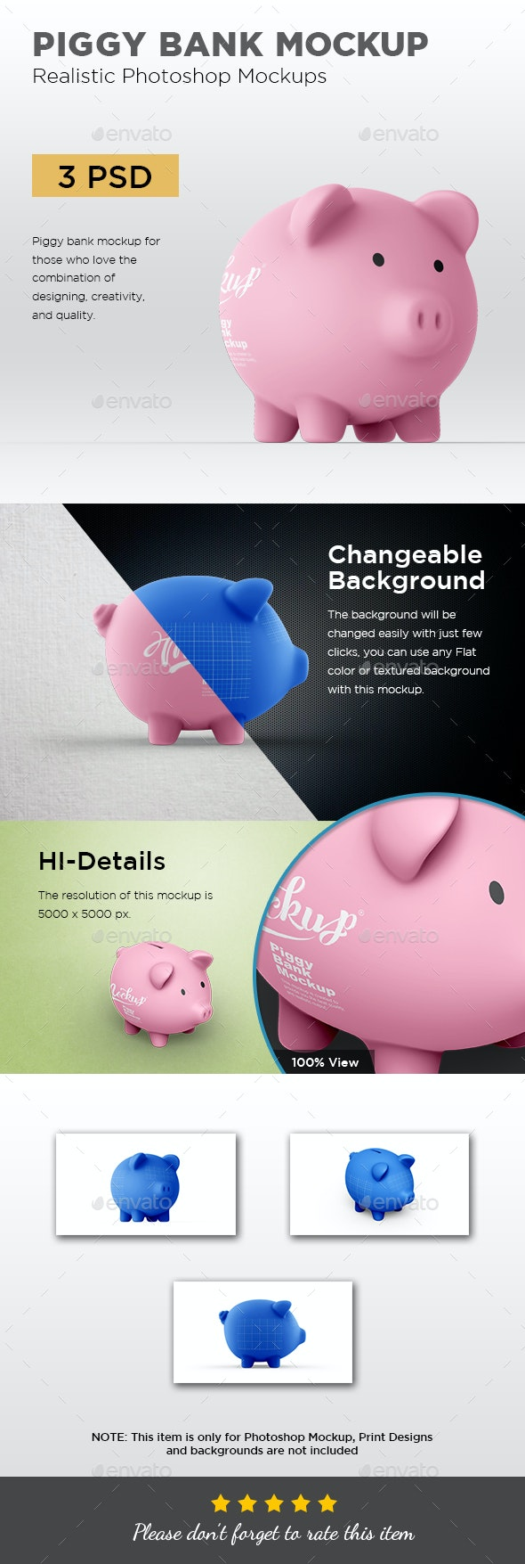 Piggy Bank Mockup - Miscellaneous Product Mock-Ups