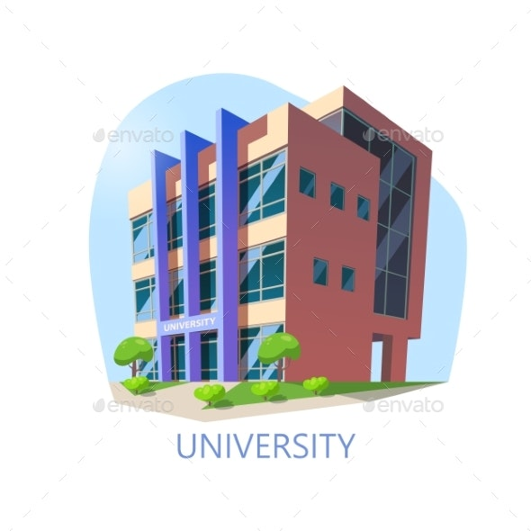 University Construction or Building for Education - Buildings Objects
