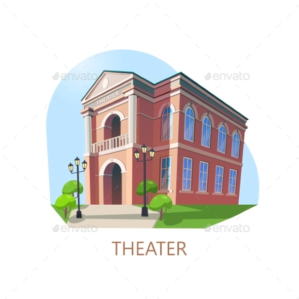 Building of Theater or Theatre Construction - Buildings Objects